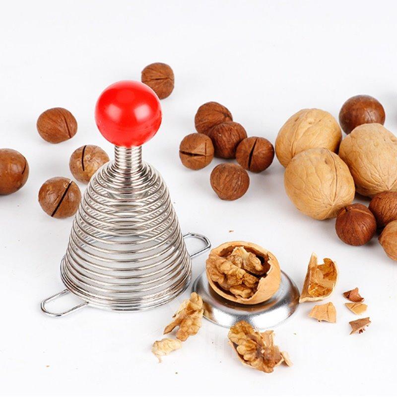 Stainless Steel Silicone Spiral Spring Nut Cracker