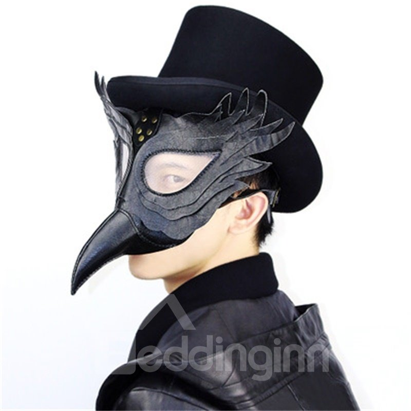 Halloween Party Mask Unique Design Hand Made Leather Plague Doctor