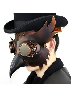 Long Nose Bird Mouth Beak Faux Leather Steampunk Halloween Costume Mask
