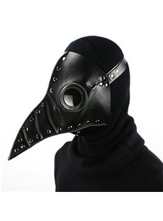 Mask Birds Long Nose Halloween Costume Props Cosplay Black