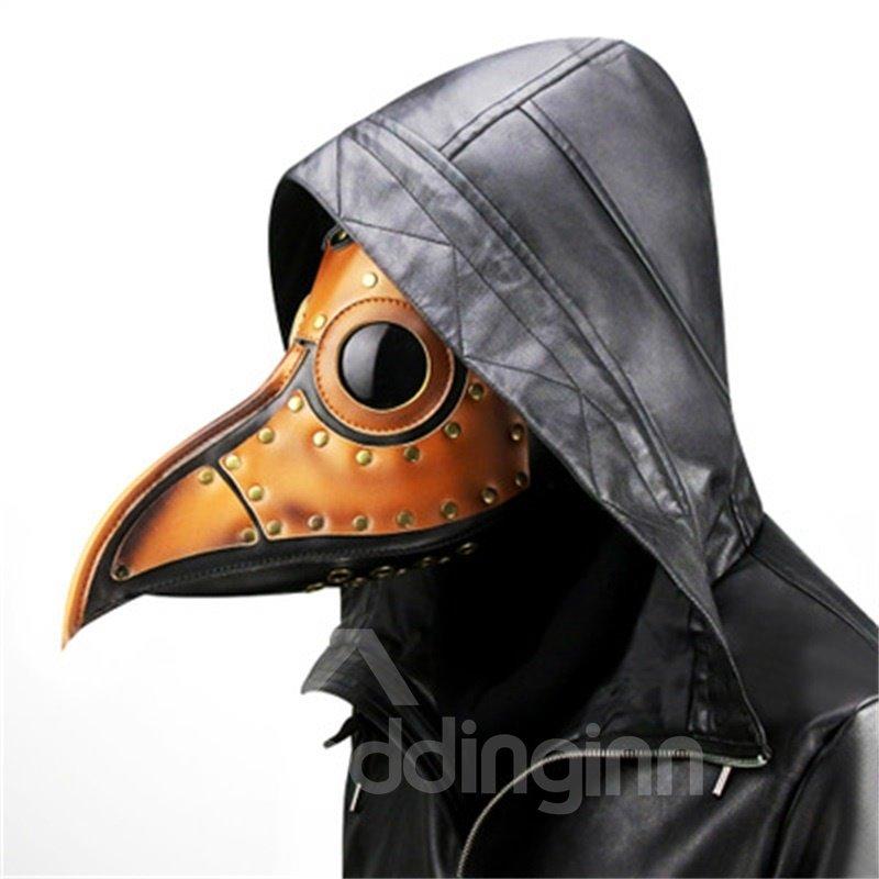 Mask Birds Long Nose Beak Faux Leather Steampunk Halloween Costume Props
