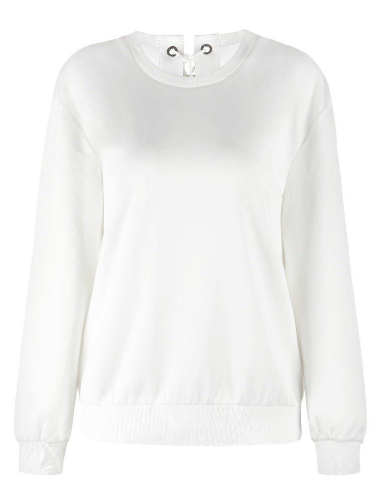 Pullover Sweatshirt Tie Back Black Evil Wings Printed Women Hoodies