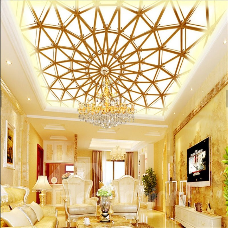 3D Ceiling PVC Waterproof Sturdy Eco-friendly Self-Adhesive Ceiling Murals