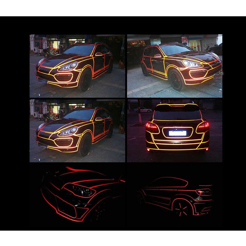 Design By Yourself Eye-catching Red Waterproof Luminous Car Sticker