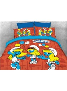 Smurfette with Balloons 4-Piece Bedding Sets/Duvet Covers