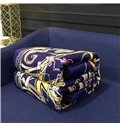 Dream Catcher Royal Blue Luxury Style Reversible Fuzzy Super Soft Bed Blanket