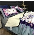 Floral Horses and Butterflies Luxury Style 2-Piece Bed Pillowcases