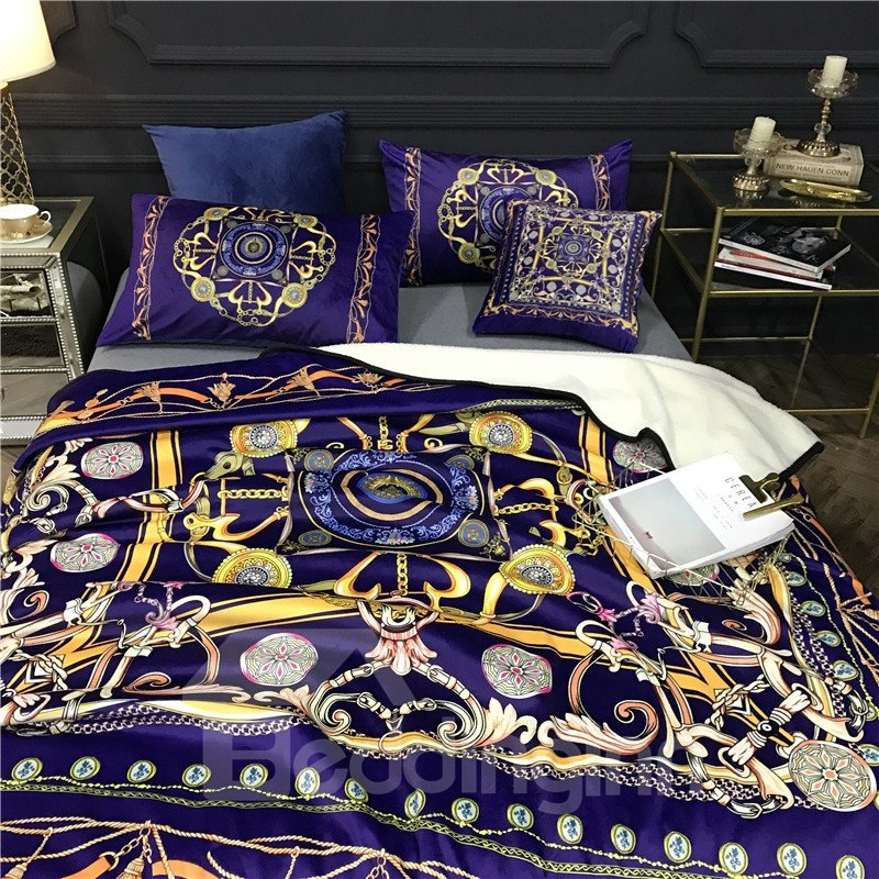 Dream Catcher Royal Blue Luxury Style 2-Piece Bed Pillowcases