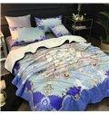 Floral Dream Catcher Pattern Blue 2-Piece Bed Pillowcases