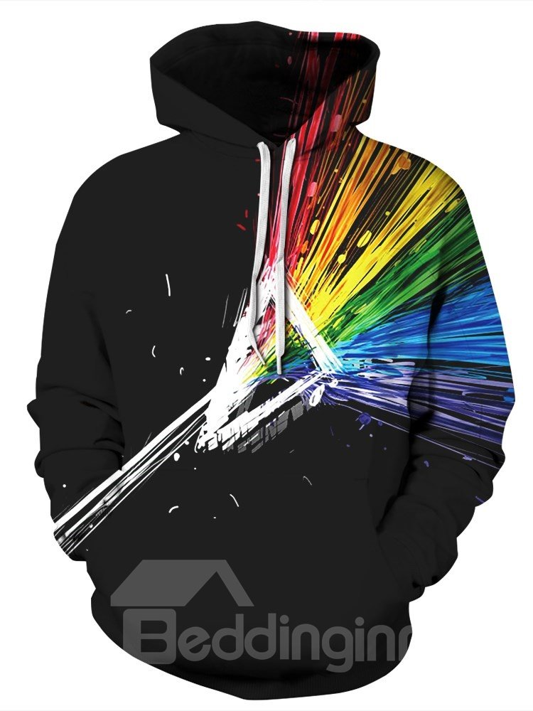 Long Sleeve Abstract Graphics Colorful Pattern 3D Painted Hoodie