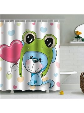 Blue Mouse Printed PEVA Waterproof Durable Antibacterial Eco-friendly Shower Curtain
