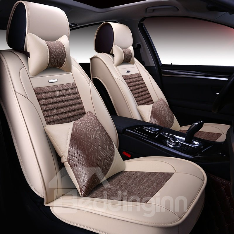 Durable In Use ColorBrilliancy Tasteful Leather Universal Car Seat Covers