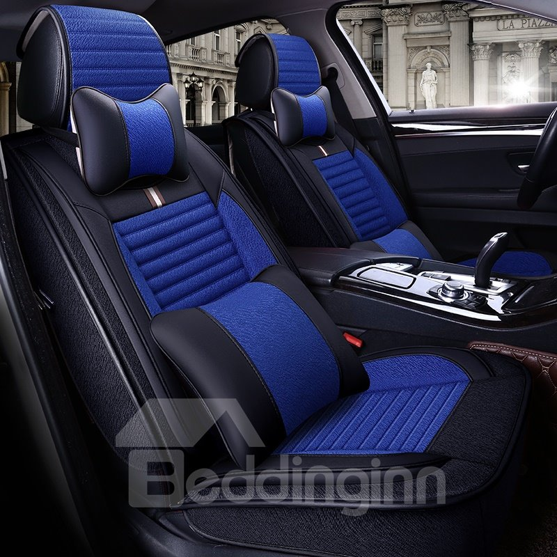 Classic Striping Pattern And Better Support For Waist Universal Car Seat Covers