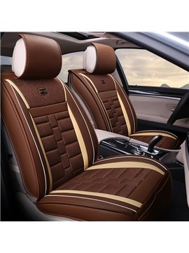 Classic Deft Design Durable Flax Material Universal Car Seat Covers