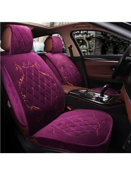 Delicate Colors Luxuriant in Design Suede Material Universal Car Seat Covers