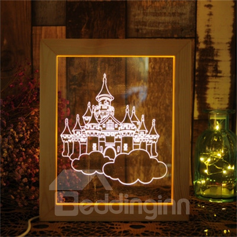 Fancy and Wonderful 3D Castles Acrylic Creative Birthday Gift USB Night Lamp