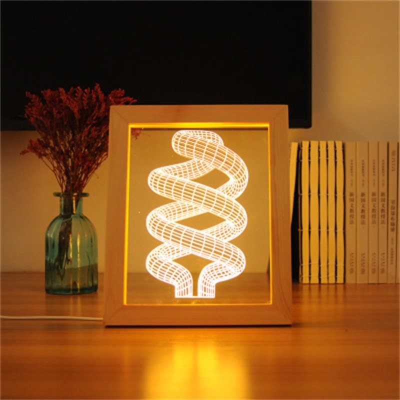 Concise and Modern 3D S-Circles Acrylic Creative Birthday Gift USB Night Lamp