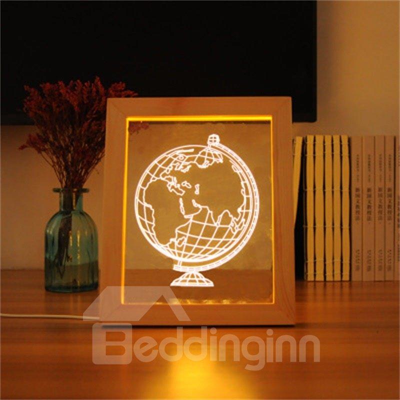 Modern and Creative Globe 3D Acrylic LED Night Lamp
