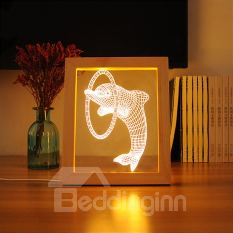 3D Beautiful Fish Modern and Creative Acrylic LED Night Lamp