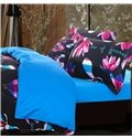 Adorila 60S Brocade Multi-Color Magnolia Buds Prints 4-Piece Cotton Bedding Sets