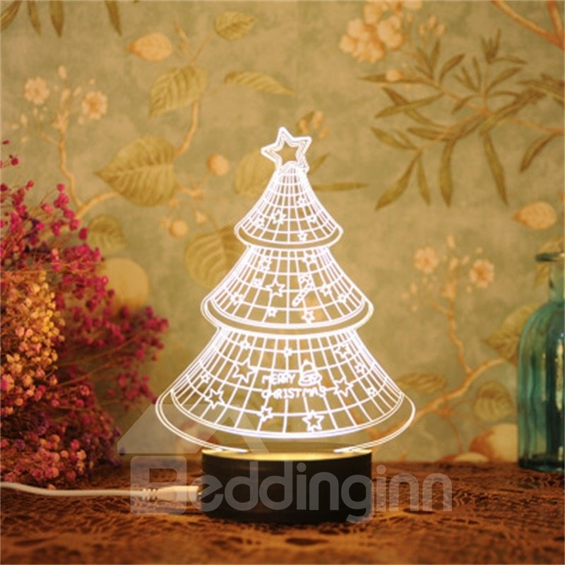 Lovely and Practical Gift Concise and Modern Seven Color 3D USB LED Night Light