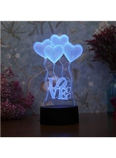 Modern and Creative Romantic Acrylic 3D USB LED Night Lamp