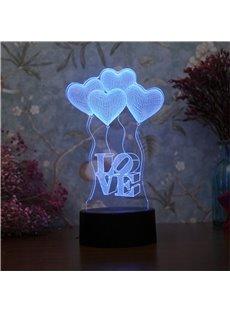 Modern and Creative Romantic Acrylic 3D USB LED Night Lamp