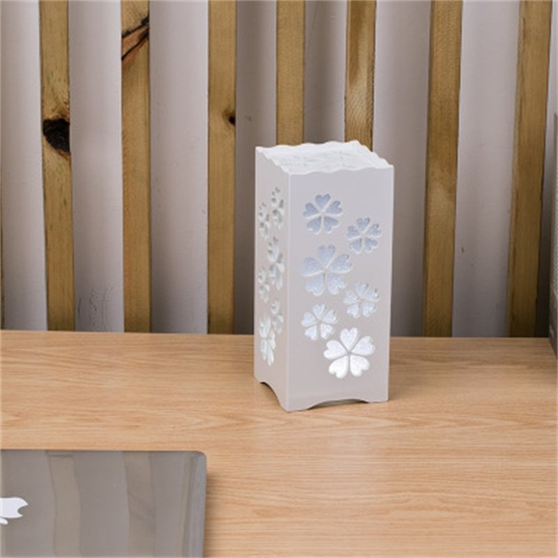 Concise and Modern North European Wood-Plastic Hollowed-out Creative Birthday Gift LED Lamp