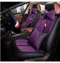 Adventurous Energetic Sports Style Color Blocking Universal Leather Car Seat Cover