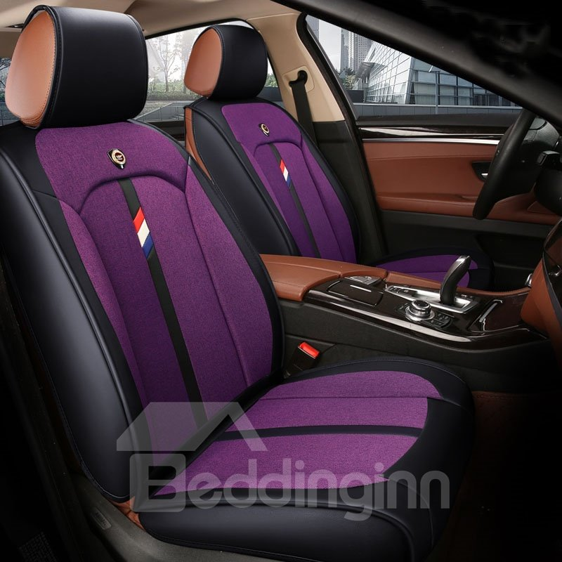 Active Pure Color Modern Design Durable Universal Leather Car Seat Cover