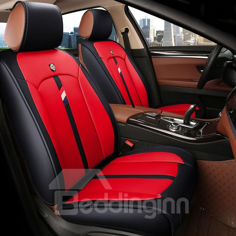 Active Pure Color Modern Design Universal Leather Car Seat Cover