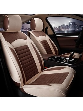 Cost-efficient Striated Design Soft Material Youthful Universal Car Seat Cover