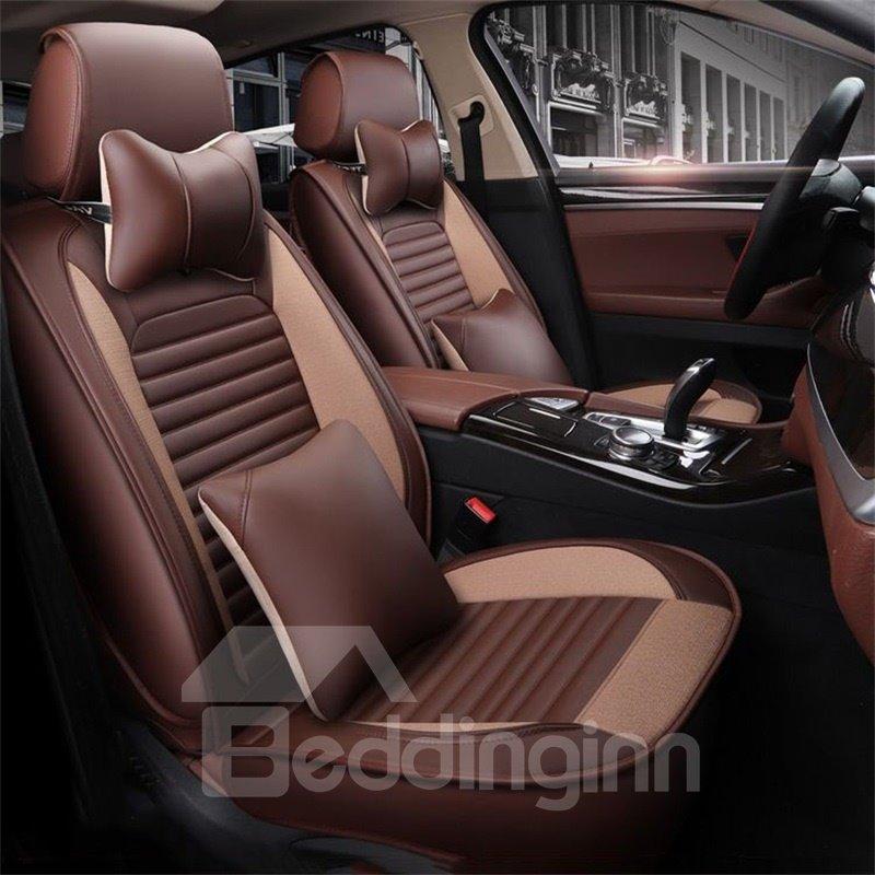 Classic Color Elegant Shape Universal Leather Car Seat Cover