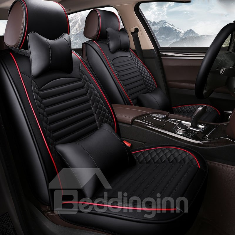 Dazzling Three-Dimensional Design Comfortable Universal Leather Car Seat Cover