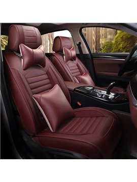 Fabulous Practical Pure Color Durable Leather Universal Car Seat Cover