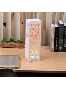 European Style Concise and Romantic Creative Wood Plastic USB Night Lamp