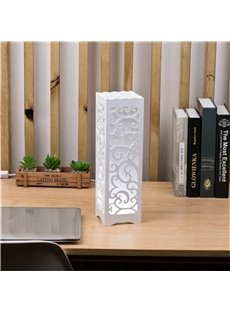 Concise and Romantic Creative European Style Wood Plastic USB Night Lamp
