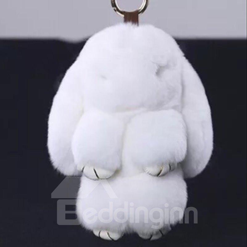 Stuffed Rabbit Toy Key Chain for Handbag Cellphone Car Colorful