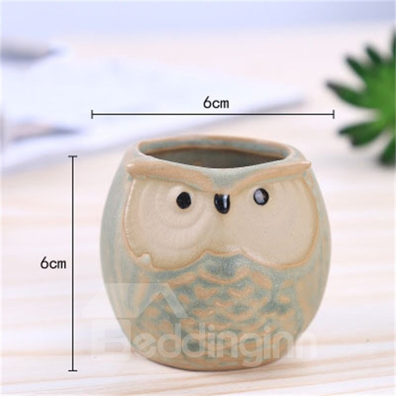Modern and Elegant Style Owl Shape Lovely Ceramics Succulent Pots