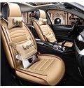 Classic Design Simple Colors Plus Cute Pillow Universal Leather Car Seat Cover