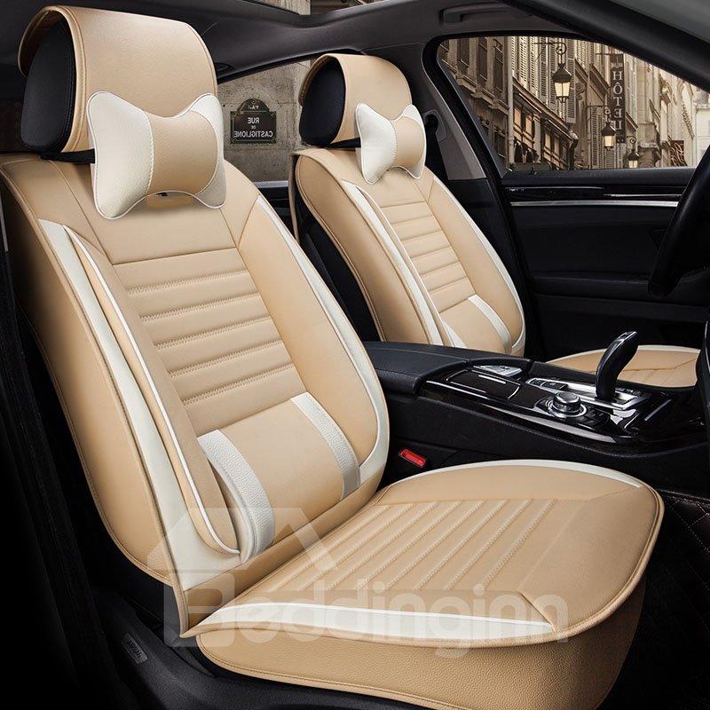 Original Black Dye Plus Integrated Waist Rest Universal Leather Car Seat Cover