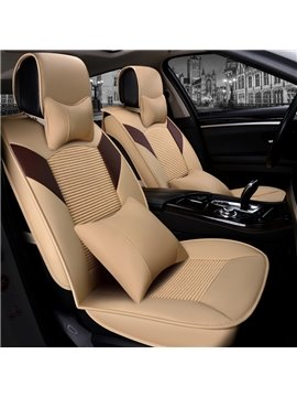 Luxury Charming Color Block Durable Universal Leather Car Seat Cover