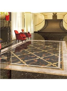 Light Cameo Brown PVC Waterproof Eco-friendly Floor Art Tile Sticker