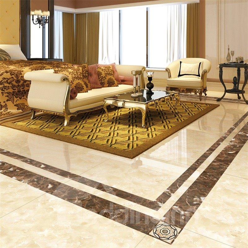 84 Square PVC Waterproof Eco Friendly Floor Art Tile Sticker
