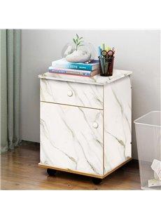 White Faux Marble Wallpaper PVC Waterproof Self-Adhesive Cupboard Sticker