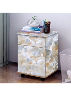 Faux Marble Wallpaper PVC Waterproof Eco-friendly Self-Adhesive Cupboard Sticker