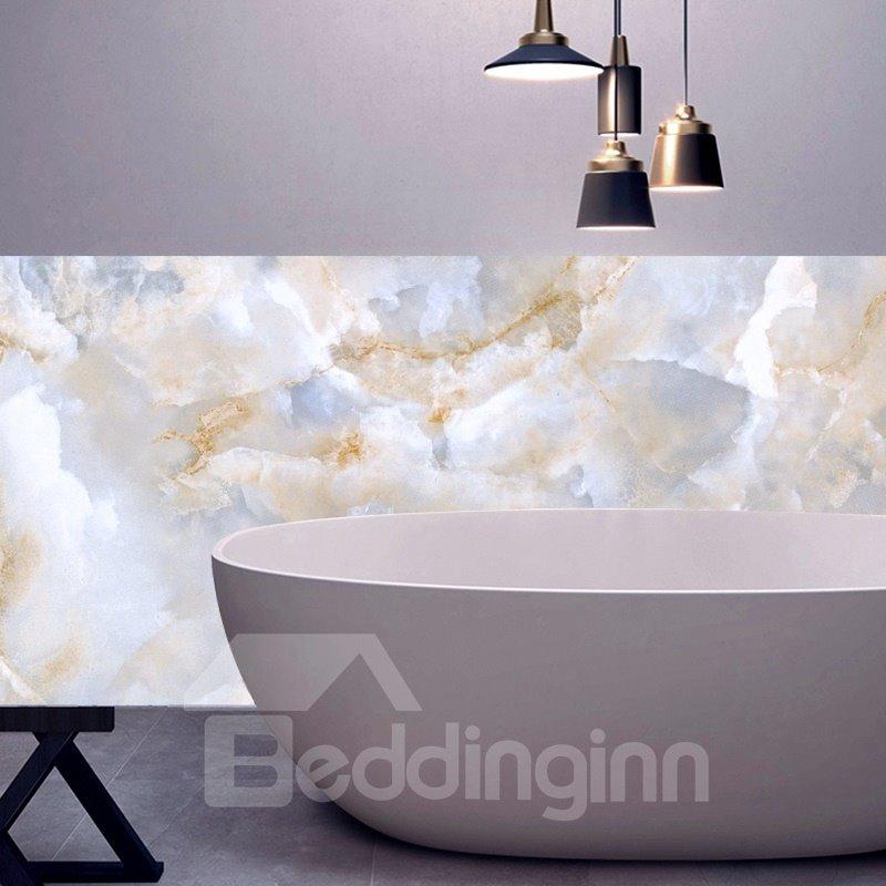 Faux Marble Wallpaper PVC Waterproof Eco-friendly Self-Adhesive Cupboard Sticker