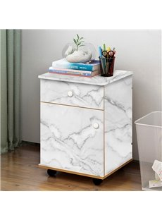 White Faux Marble Wallpapper PVC Waterproof Self-Adhesive Cupboard Sticker