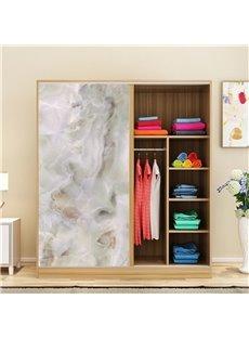 Faux Marble Wallpaper PVC Waterproof Self-Adhesive Cupboard Sticker