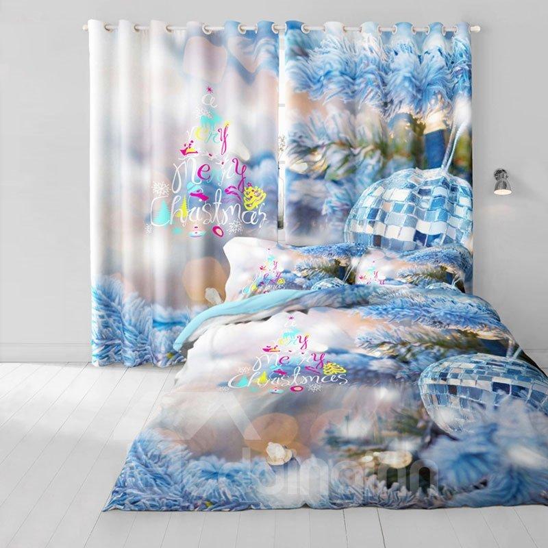 Onlwe 3d Santa And Sleigh Snowman Printed Cotton 4 Piece